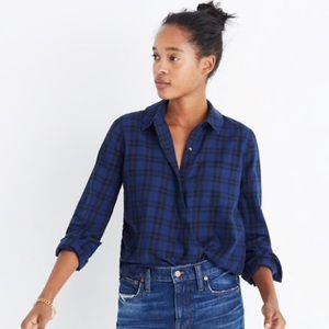 Madewell Wrap Front Shirt Arion Plaid